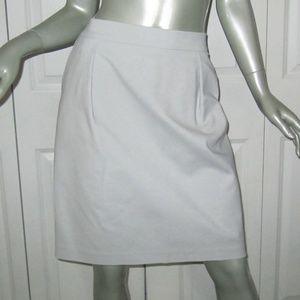 REISS Pale Gray Knee-Length Lined Skirt 12 NWT